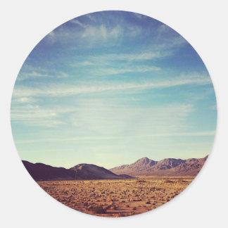 Mojave Desert Round Sticker