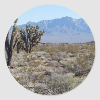 Mojave Desert scene 03 Round Sticker