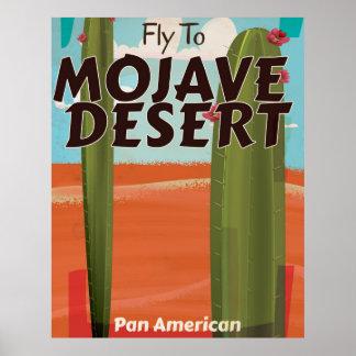 Mojave Desert USA Vintage travel poster.