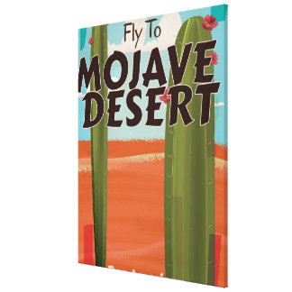 Mojave Desert USA Vintage travel poster. Stretched Canvas Print