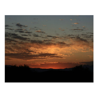 Mojave sunset postcard