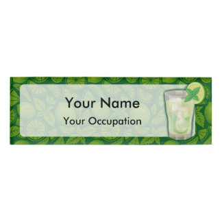 Mojito cocktail name tag