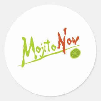 Mojito Now Classic Round Sticker