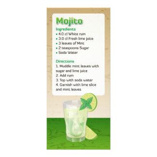 Mojito Recipe Personalized Rack Card