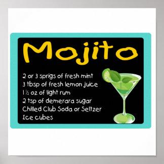 Mojito Recipe Posters