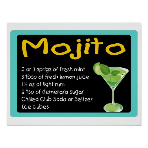 Mojito Recipe Poster