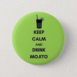 Mojito swipes in 6 cm round badge