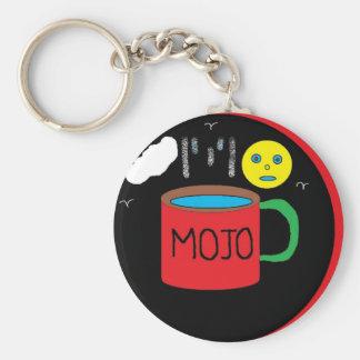 mojo basic round button key ring