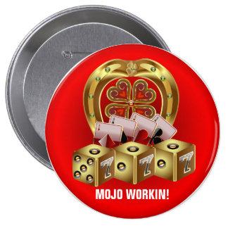Mojo Fast Luck Mojo Workin Pinback Buttons