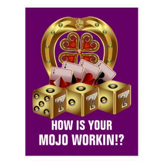 Mojo Fast Luck  Mojo Workin! Postcard