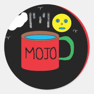 mojo round sticker