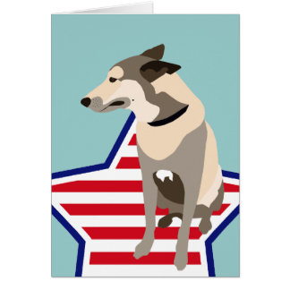 Mojo the Belgian Shepherd Card