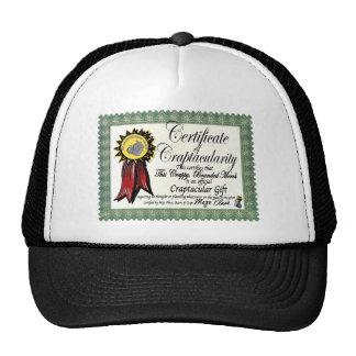 Mojo's Craptacular Certificate Merch Trucker Hats