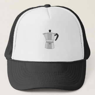 Moka coffee pot trucker hat