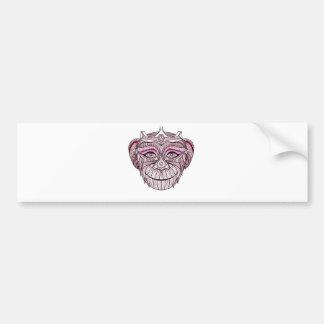 Mokey's Head 1 Bumper Sticker