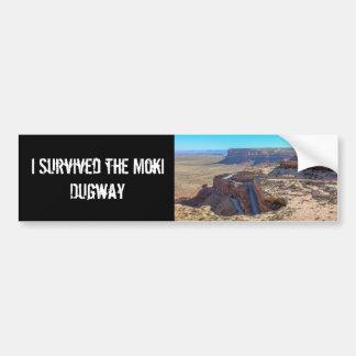 Moki Dugway Bumper Sticker
