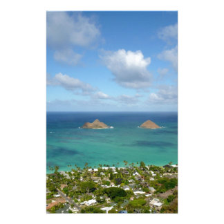 Moks off the shore of Lanikai Custom Stationery