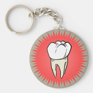 Molar freshly extracted key ring