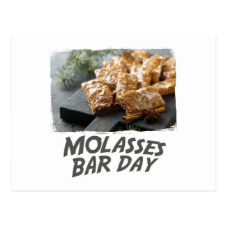 Molasses Bar Day - Appreciation Day Postcard