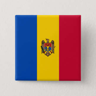 Moldova Flag 15 Cm Square Badge