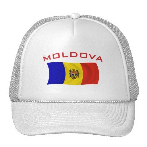 Moldova Flag 2 Mesh Hats