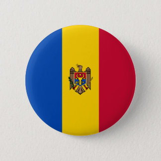 Moldova Flag 6 Cm Round Badge