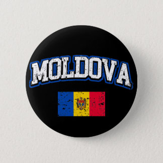 Moldova Flag 6 Cm Round Badge