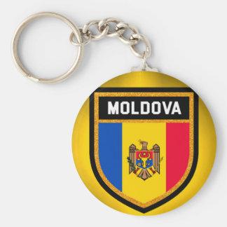 Moldova Flag Key Ring