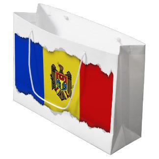 Moldova Flag Large Gift Bag