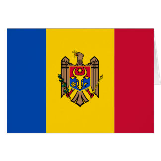 Moldova Flag Note Card