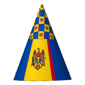 Moldova Flag Party Hat
