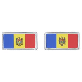 Moldova Flag Silver Finish Cuff Links