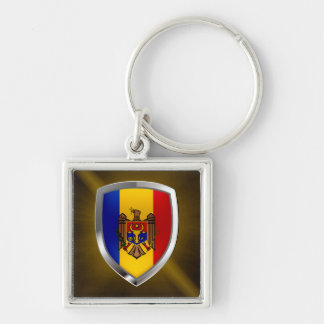 Moldova Metallic Emblem Key Ring