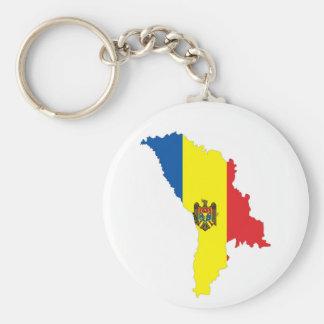moldova republic country flag map shape symbol basic round button key ring