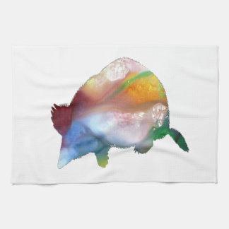 Mole art tea towel