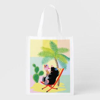 mole on the beach reusable grocery bag