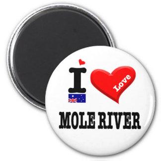MOLE RIVER - I Love Magnet