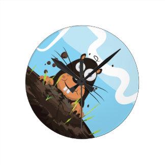 Mole Round Clock