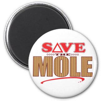 Mole Save 6 Cm Round Magnet