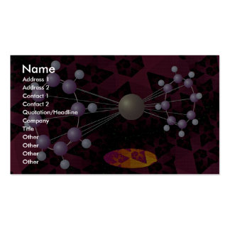 Molecular structure dimension pack of standard business cards