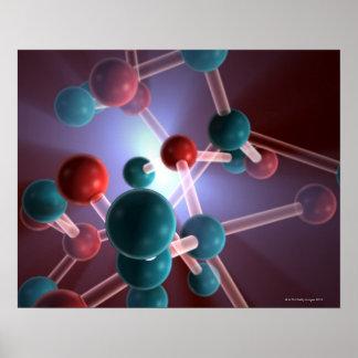 Molecular Structure of Caffeine. Poster