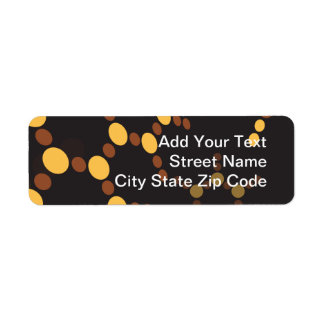 Molecular Structure Return Address Label
