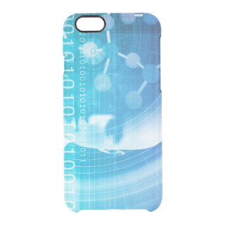 Molecule Background as a Science Abstract Concept Clear iPhone 6/6S Case
