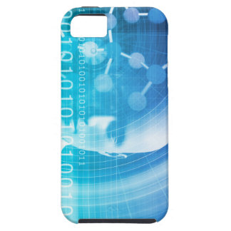 Molecule Background as a Science Abstract Concept iPhone 5 Covers