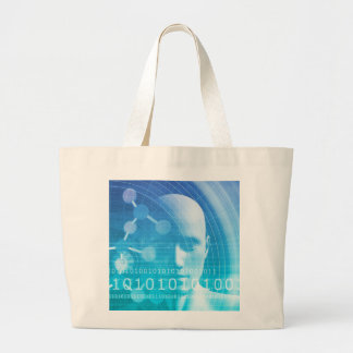 Molecule Background as a Science Abstract Concept Large Tote Bag