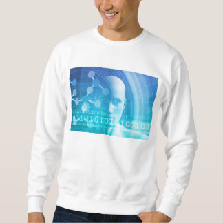 Molecule Background as a Science Abstract Concept Sweatshirt