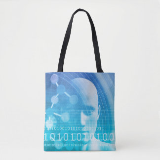Molecule Background as a Science Abstract Concept Tote Bag