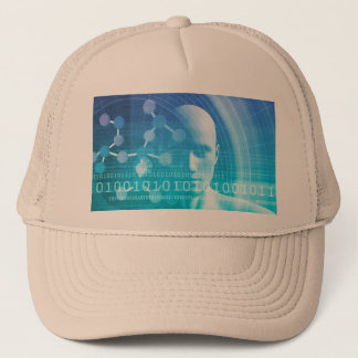 Molecule Background as a Science Abstract Concept Trucker Hat