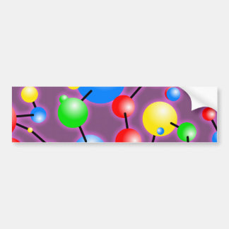 Molecule Wallpaper Bumper Sticker