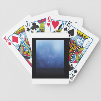 molecules background bicycle playing cards